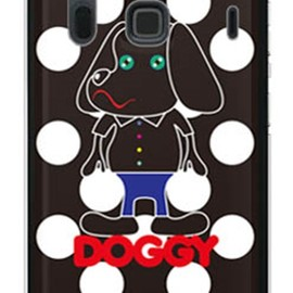 SECOND SKIN - Doggy ホワイトドット (ソフトTPUクリア) design by Moisture / for ARROWS NX F-06E/docomo