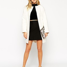 asos - ASOS Coat In Trapeze With Dipped Hem