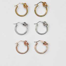 CELINE - Knot Small Hoop Earrings Summer 17