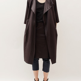 Bless  - Skirtcoat 2 Coat- Dark Brown
