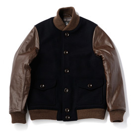 bal - MELTON & LEATHER VARSITY JACKET