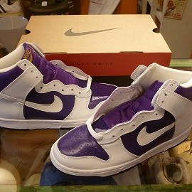"NIKE - 「<deadstock>'99 NIKE DUNK HI""QUICK STRIKE"" white/purple W/BOX size:27.5cm 15000yen」販売中"