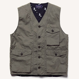 THE RUGGED MUSEUM - WHEATHER CLOTH VEST OLIVE