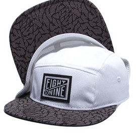8and9 - White Cement 5-Panel Strapback
