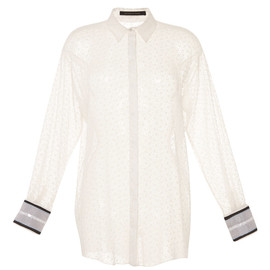 MOTHER OF PEARL - SS2015 White Albion Crepon Flock Shirt