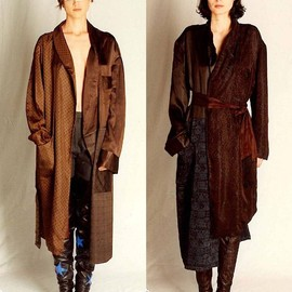 Maison Martin Margiela 0 - Patched mis-matched dressing gown