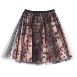 Honey mi Honey - HONEY MI HONEY(ハニーミーハニー) Leopard tull skirt in pants【14A-TA-05】の画像BLK