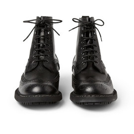 Givenchy - Pebbled Leather Brogue Boots