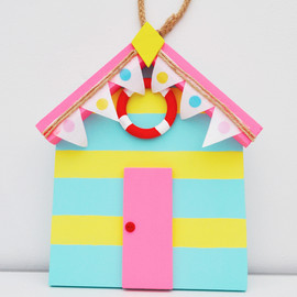 Luulla - Dark pink Ice-cream coloured Beach hut