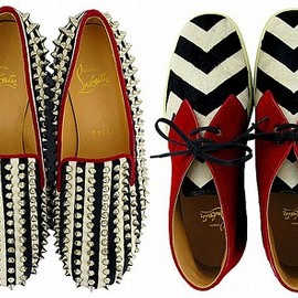 Christian Louboutin - Stipped and Stud Shoes