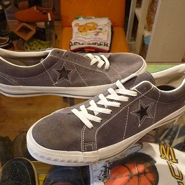 "converse - 「<deadstock>90's converse ONESTAR SUEDE OX grey/black""made in USA"" size:US9/h(28cm) 16800yen」完売"