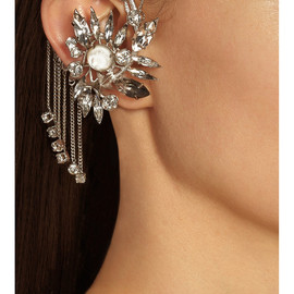 GIVENCHY - Ear cuff in silver-tone brass, crystal and mother-of-pearl