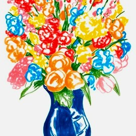Jeff Koons - Flowers (2001, 105×75, ed.150)