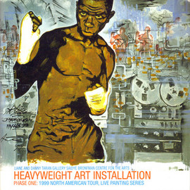 "HVW8, Kid Koala, Amon Tobin - Heavyweight Art Installation Phase One: 1999 North American Tour, Live Painting Series w/7"" EP"