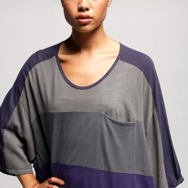 ANREALAGE - Color block slouchy t shirt