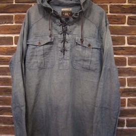 "RRL - Hooded Pullover Chambray Jacket ""Limited Edition"""
