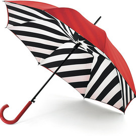 Lulu Guinness - LULU GUINNESS Diagonal Stripe Bloomsbury Umbrella