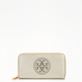TORY BURCH - perf LOGO ZIP CONTINENTAL