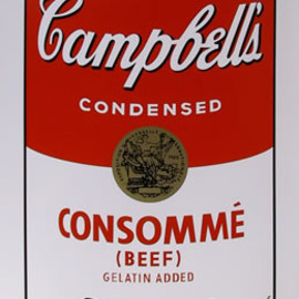 Andy Warhol - Title: Campbell Soup Can: Consomme