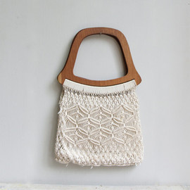 ON SALE  Vintage Macrame Handbag