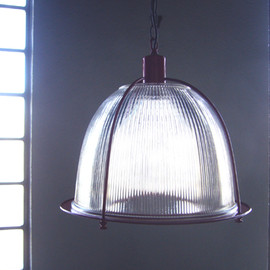 "Vintage  "" Industrial Glass Lamp ""  from NY"