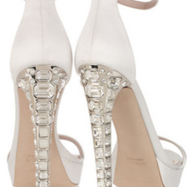 miu miu - Crystal-heel silk-satin sandals