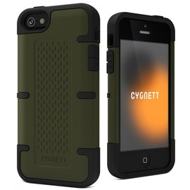 Khaki Workmate - Shock-absorbing case iPhone 5
