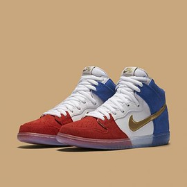 NIKE SB - NIKE SB DUNK HIGH CHALLENGE RED/GAME ROYAL/WHITE