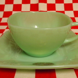 Jadeite Magic Gallery - Fire King Jadeite Charm Cup & Saucer #27