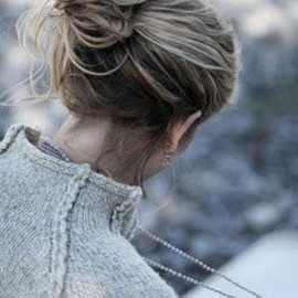 knit sweater - hairpin