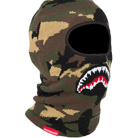 SPRAYGROUND - SHARK CAMO SHARK MOUTH SKI MASK