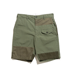 ENGINEERED GARMENTS - Ghurka Short-Cotton Ripstop-Olive