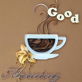 Quilled good morning by all things paper