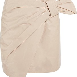 Isabel Marant - Anders wrap-effect coated cotton-blend mini skirt