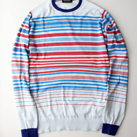 JOHN SMEDLEY - WESLEY STRIPED PULLOVER