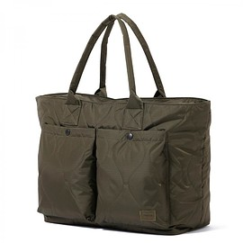 "HEAD PORTER - ""CLAYTON"" TOTE BAG (L) OLIVE"