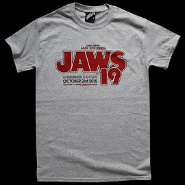 LAST EXIT TO NOWHERE - JAWS 19 - Grey Marl Regular T-shirt