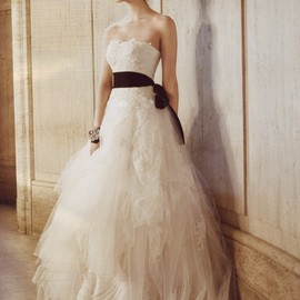Vera Wang Spring 2015 Wedding Dress | seriously dark and edgy