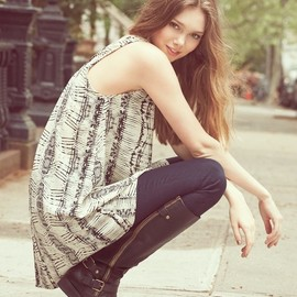 Painted Threads - Painted Threads Chiffon High/Low Tunic Tank