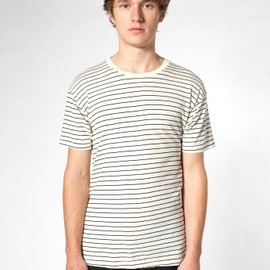 American Apparel - Natural Black Marceau Stripe T-shirt