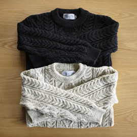 Kerry Woollen Mills - Aran Crew Neck Sweater