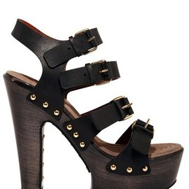 GIVENCHY - Calf Multi Buckle Sandal