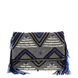 ASOS - Image 1 of ASOS Pom Pom Fringe Clutch Bag