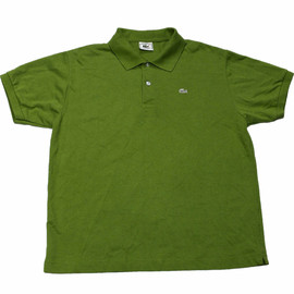 LACOSTE - Vintage Green Lacoste Polo Shirt Made in France Mens Size Large