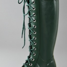 HUNTER - Watling Lace Up Gloss Boots