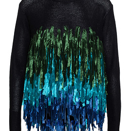 Dries Van Noten - SS2015 Ribbon Fringe Netty Sweatshirt