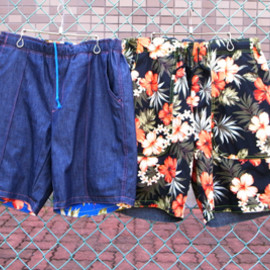 VOO - VOO REVERSIBLE EAZY SHORT(花柄)