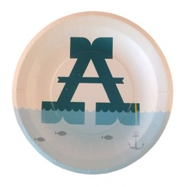 Oliver Bonas - A to Z Paper Plates