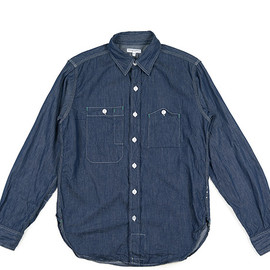 ENGINEERED GARMENTS - Work Shirt-Denim Shirting-Indigo
