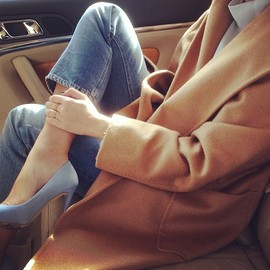 coat@Maxmara/denim @Acne